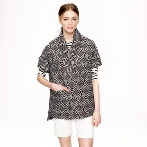 J. Crew Collection Jacquard Popover Top